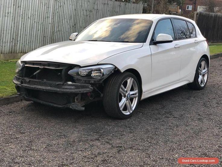 2012 (12) BMW F20 1 SERIES 116D M SPORT WHITE SALVAGE DAMAGED REPAIRABLE #bmw #116 #forsale #unitedkingdom