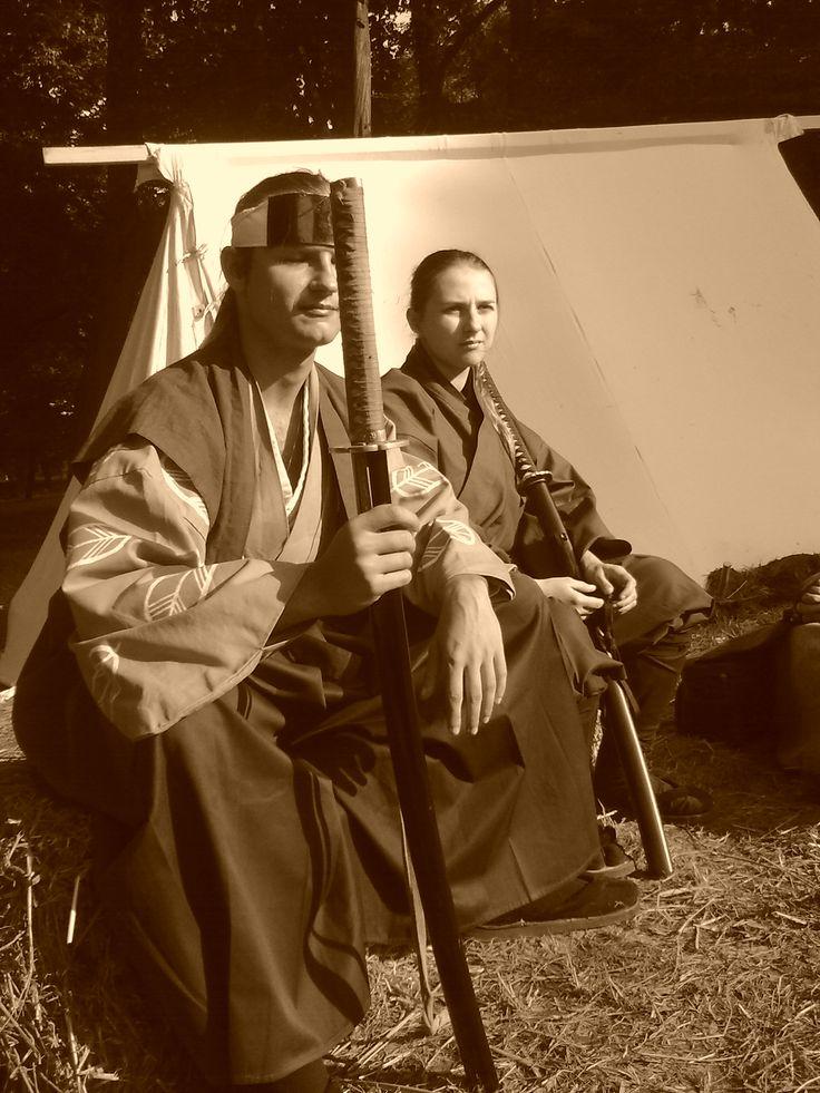 Samurai and onna bushi in Japanese camp (by Isao and Makoto).
