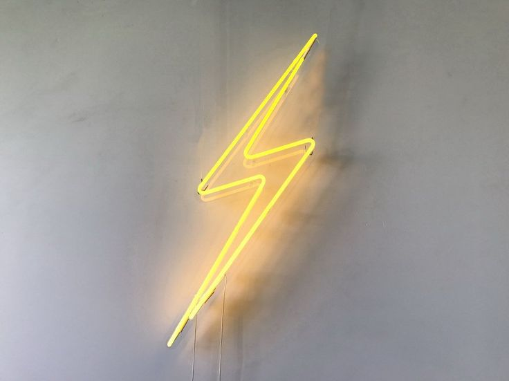 Lightning Bolt Neon Sign #lighting, #neon, #sign