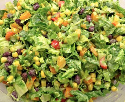 The Wooden Spoon Diaries: Southwest Chopped Salad with Creamy Cilantro Lime Dressing