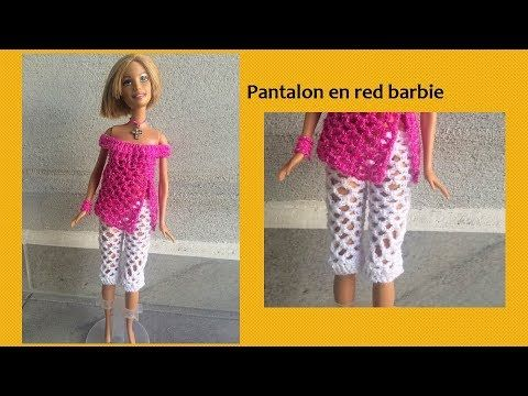Pantalón en red para barbie