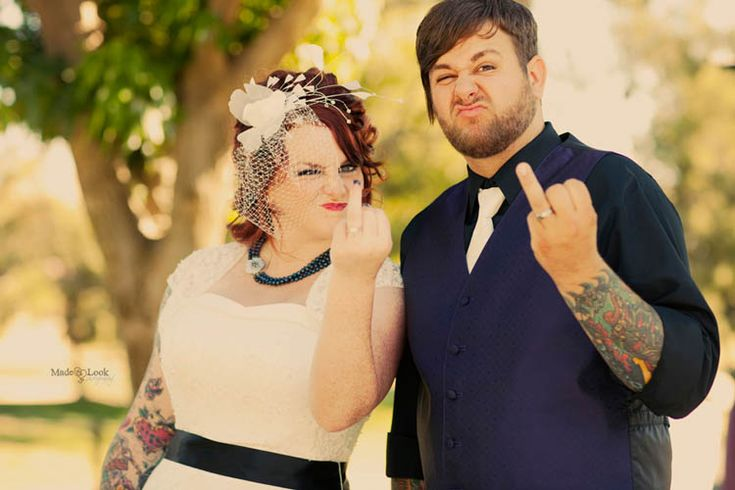 This is realistic for us-  Candace & Tyler';s Tattoo-Heavy, Punk Rock Wedding