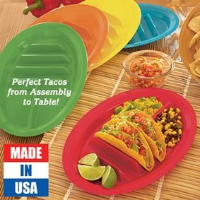 ****: My Helpful Kitchen Find TACO PLATES nice way to hold your tacos ...