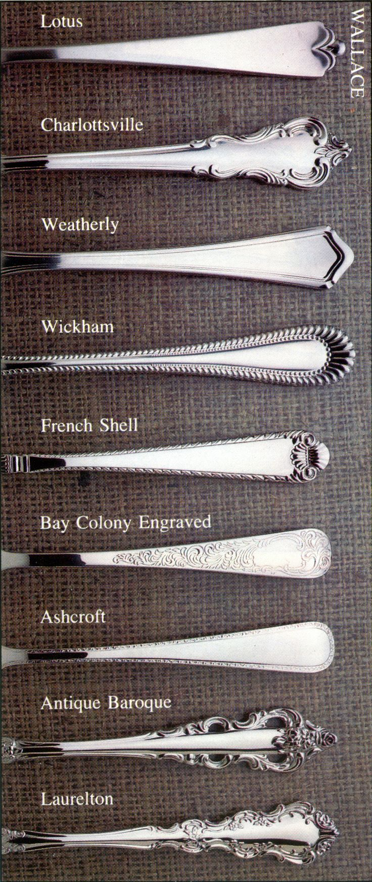 Wallace stainless flatware patterns