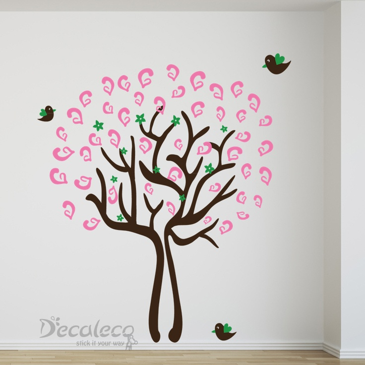 Tree of Hope - Not just a wall mural that is pleasant to the eyes but a wall decal that may just bring you the luck you need. www.decaleco.com #animal_wall_decals #tree_wall_decal #bird_wall_decals #giant_wall_decals #family_wall_decals