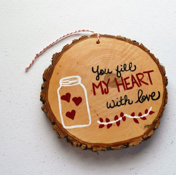 Hand painted Couple Mason Jar , Valentine Gift Ornament , Gift tag , wall accent decoration . Approximately 4 - 5 inches. Love to do custom orders! You fill my heart with love . Great wedding gift , Anniversary , Bridal shower. This is big enough to hang on a wall . Please send all changes etc in the  notes to seller section in checkout. Remember they are handmade so may vary in size slightly. No returns. Smoke free home. Any questions please send me a conversation.