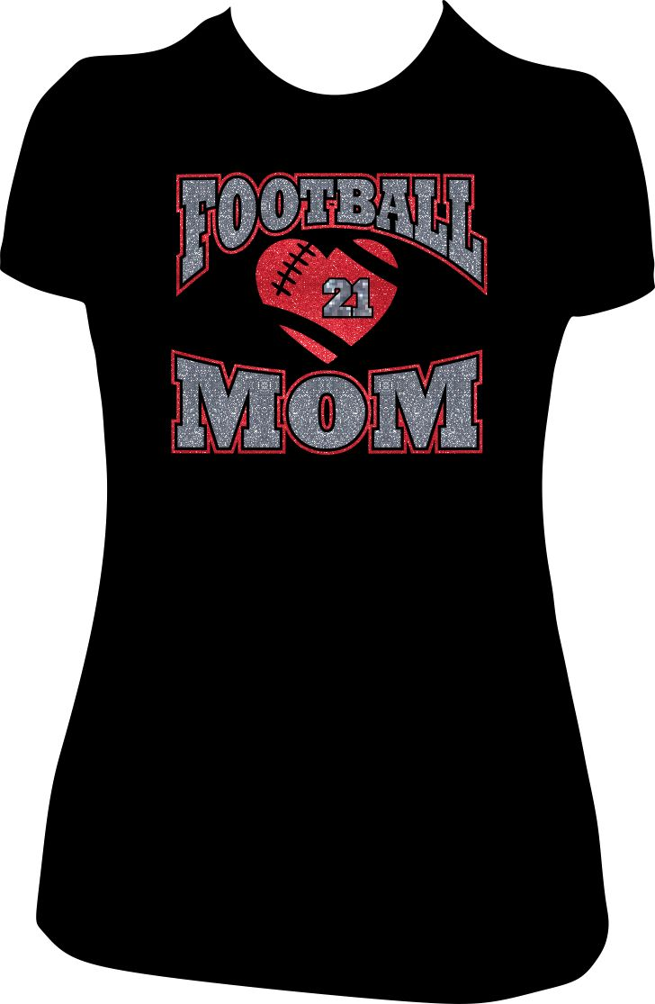 17 best images about custom football mom glitter tees tshirt on pinterest football mom. Black Bedroom Furniture Sets. Home Design Ideas