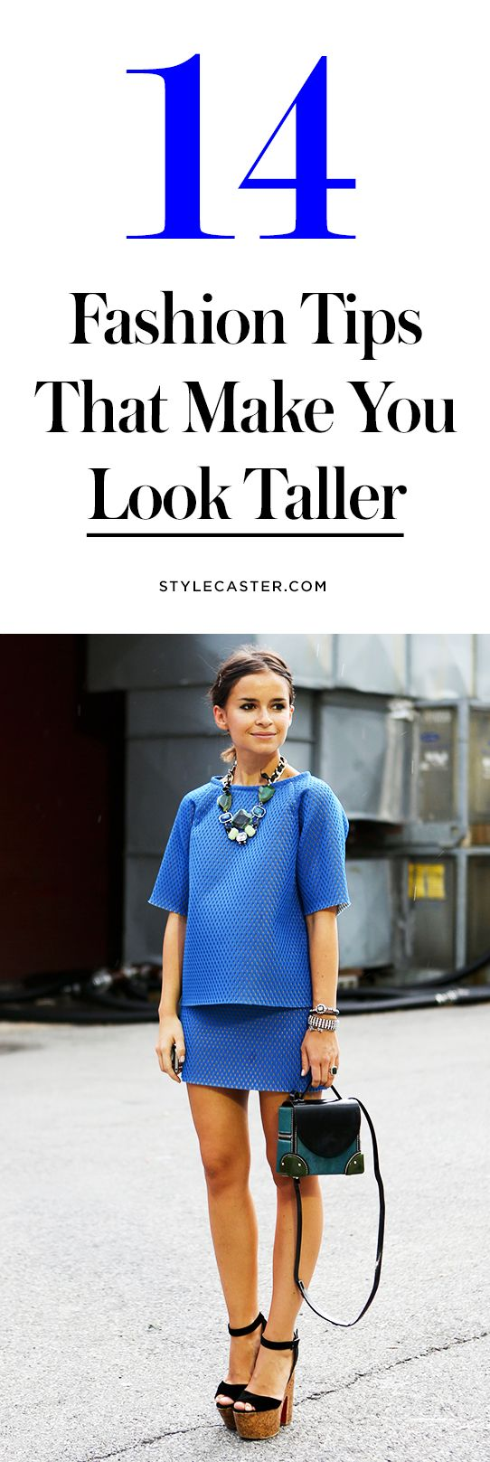12 Fashion Styling Tricks to Make You Look Taller — Short street style stars like Miroslava Duma and Olivia Lopez have got this down. Learn how to expertly outfit your petite frame @stylecaster | StyleCaster