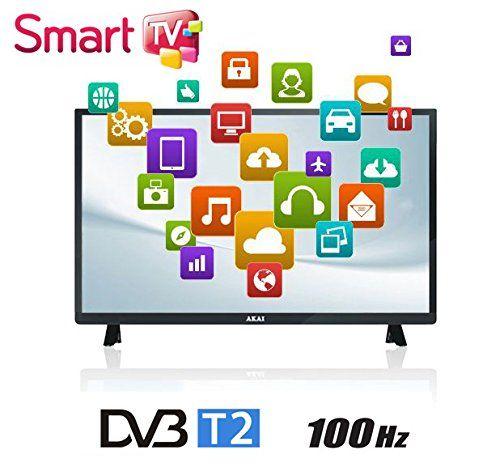 Akai TV LED 32 HD Ready 100 Hz numérique terrestre DVB-T2 Smart TV Wifi Noir