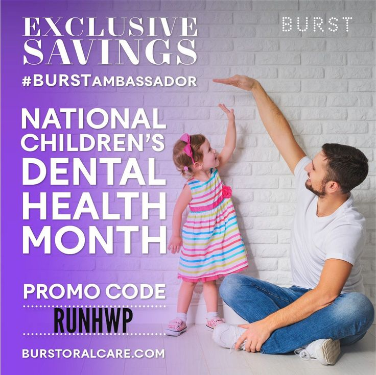 All about kids this month and their dental health. So