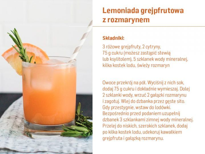 Lemoniada grejpfrutowa przepis