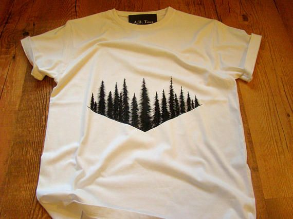 hand painted tshirt nature lover gift for him wanderlust