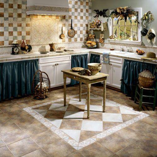 37 best Kitchen Tile images on Pinterest Backsplash ideas - kitchen floor tiles ideas