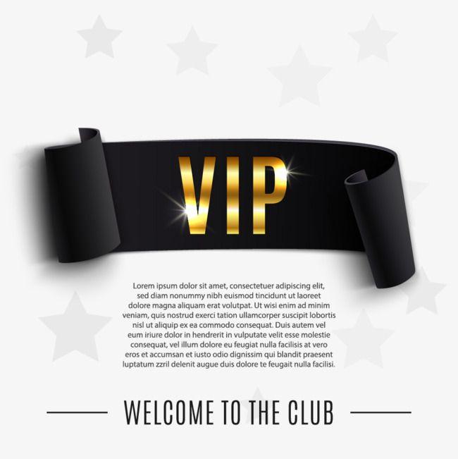 Black Vip Banner Design Vector Material Png And Vector Banner Design Design Banner