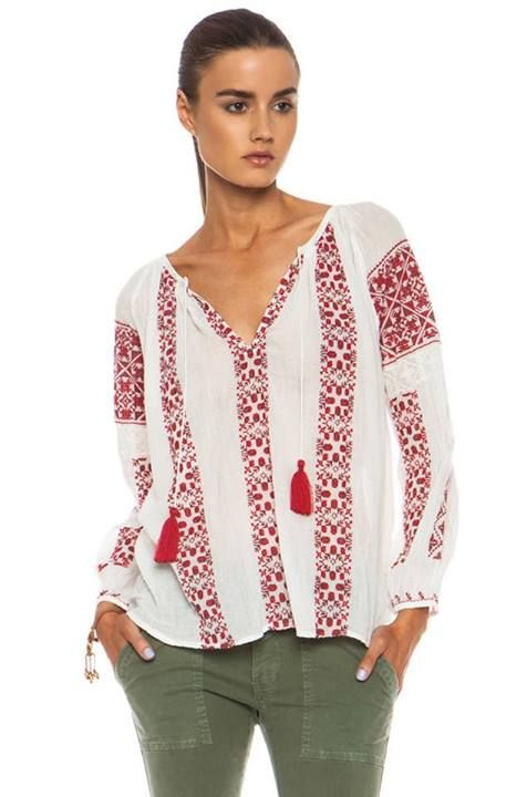 Peasant style blouse, design inspired from romanian IA.
