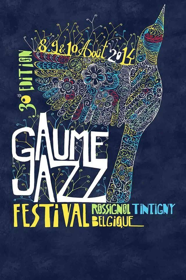 Lauréat du concours d'affiche du Gaume Jazz festival 2014 (Belgique). Dessin/photoshop janvier 2014 Paul PIQUEMAL