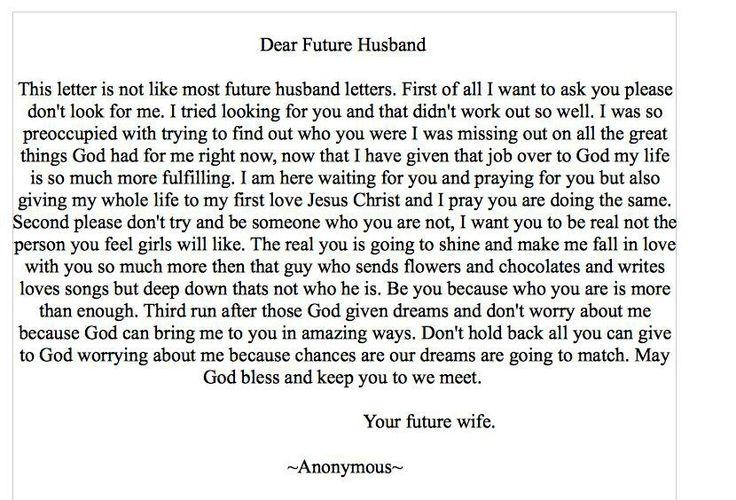 dear my future husband - photo #7