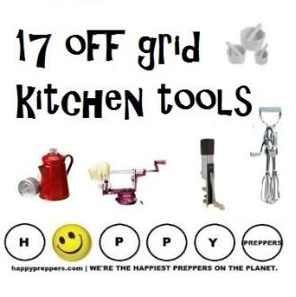 Get off the grid! Enhance your kitchen, one hand-crank appliance at a time... http://happypreppers.com/kitchen-tools.html