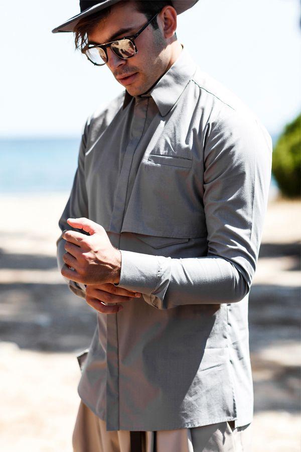 "▫️Think out of the box▫️ Choose ""Pietro""2️⃣layer shirt •www.dantemen.com•  #shirt #layers #grey #shade #wall #urban #boheme #layered #groom #men #menstreetstyle #homagetomanhood #streetstyle #dantemen #dantemenswear #menswear #homagetomanhood"