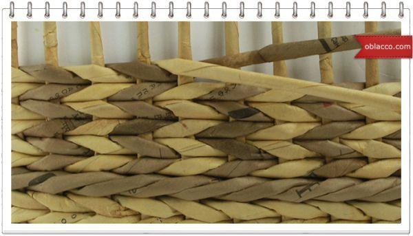 Tejiendo la cuerda de los tubos de periódicos. Clase magistral detallada. | Плетение из газет | Постила