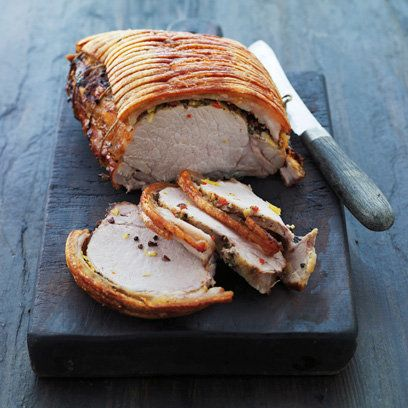 Roast pork with spices and crisp crackling from 'Scandinavian Christmas'
