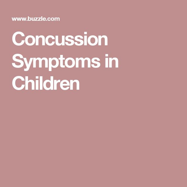 Concussion Symptoms in Children