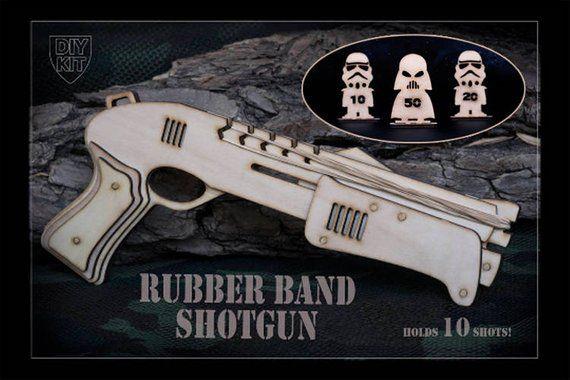 Gifts For Men, Star Wars Inspired Rubber Band Shotgun DIY Kit. Gift For Star Wars Fan, Gamer Brother, Geek , Star Wars, Gamer Boyfriend Gift