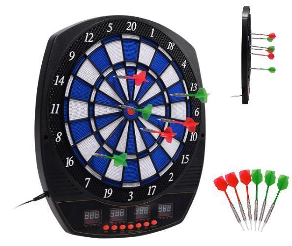 Advanced Electronic Dart Board 27 Game Play Indoor LCD 6 Darts Score Xmas Gift #AdvancedElectronicDart