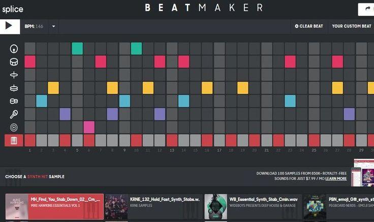 Beat Maker es una genial aplicación web con la que cualquiera puede componer sus propios ritmos, guardarlos y compartirlos, de forma sencilla.