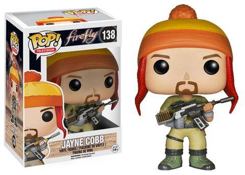 Pop! TV: Firefly - Jayne Cobb | Funko who names a guy Jayne....LOL love it down to his orange stripped cap...