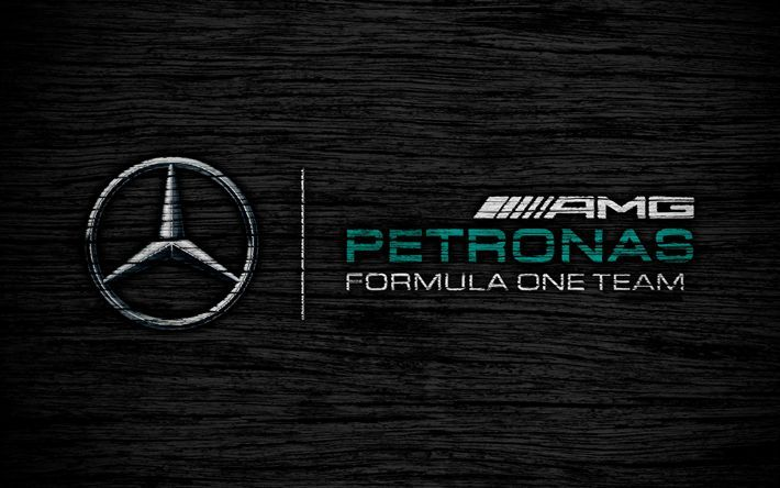 Download Wallpapers Mercedes Amg Petronas 4k Logo F1 Teams F1