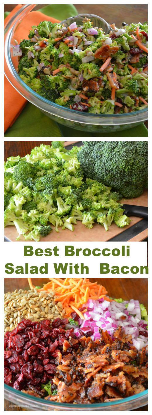 How to Make Awesome Colorful Broccoli Salad With Bacon? - I have tried many Broccoli Salad with bacon recipes over the past 20 years, but this combination is my favorite.