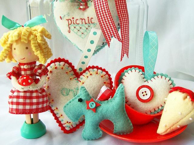 Adorable felt ornaments