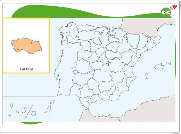 Busca la provincia en el mapa (Editorial Anaya)