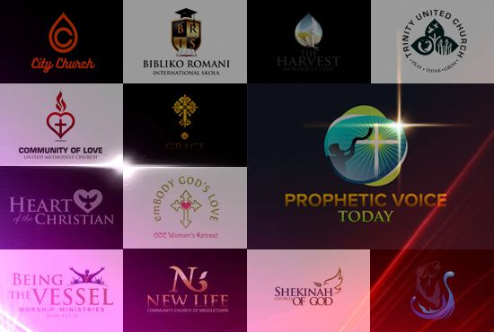 design 2 stunning logo for your church and ministries