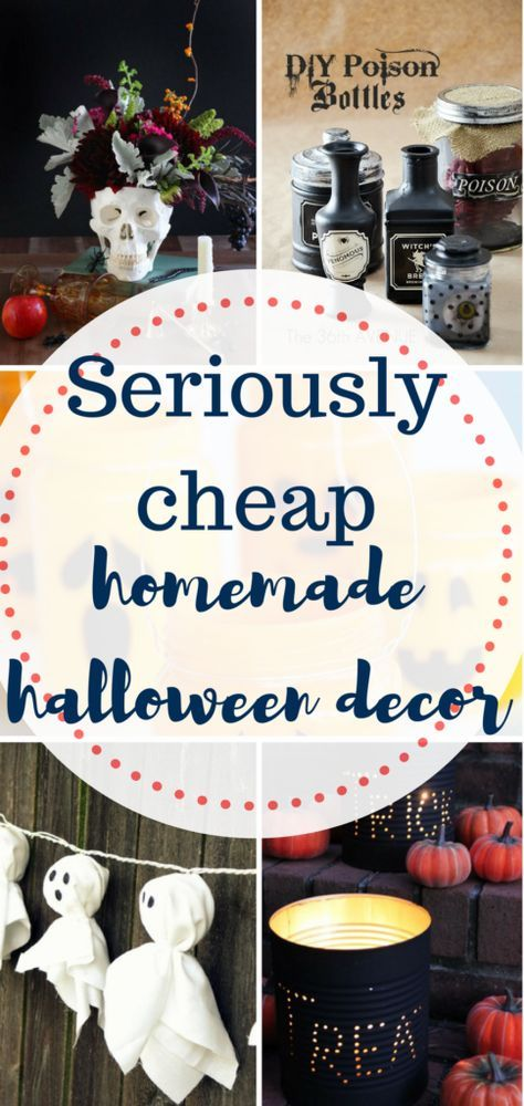 Halloween home decor. Inexpensive Halloween home decor, Holiday Decor, Homemade holiday decor, inexpensive holiday decor, cheap halloween decor