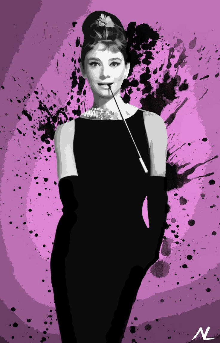 audrey hepburn breakfast at tiffany 39 s hollywood icon illustration pop art home decor poster. Black Bedroom Furniture Sets. Home Design Ideas