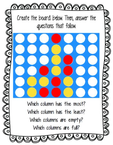 FREE Connect Four activity for visuospatial skills in speech therapy