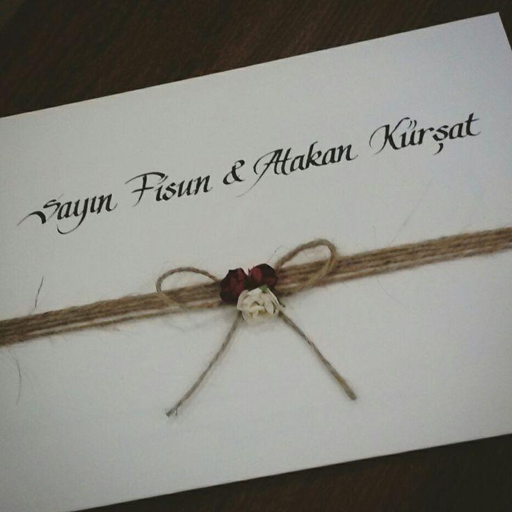 Kaligrafi Center Akın İşcan #kaligrafi #davetiye #organizasyon #düğün
