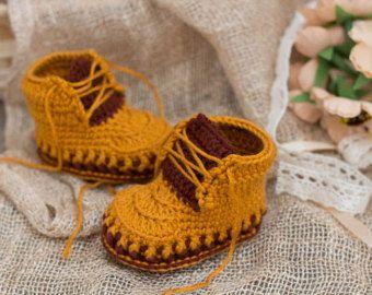 CROCHET PATTERN for Baby orange-beige by crochetbabypattern