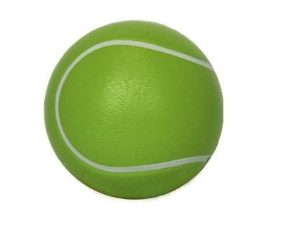 STRESS TENNIS BALL – S11  Price includes 1 color, 1 position print   2 Color imprint available for an additional charge  Decoration option: Pad print  Print Area: 30mm (D)  Product Size: 63mm (D)