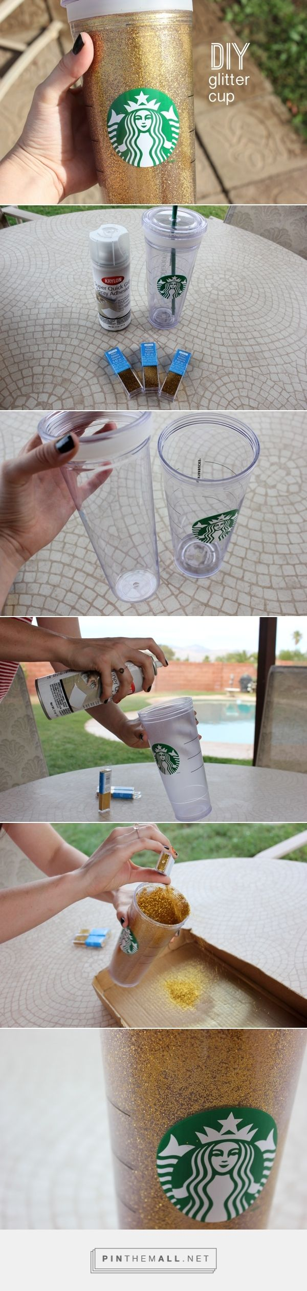 DIY Glitter Tumblr