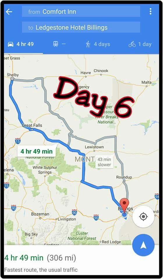 Shelby, Mt to Billings, Mt