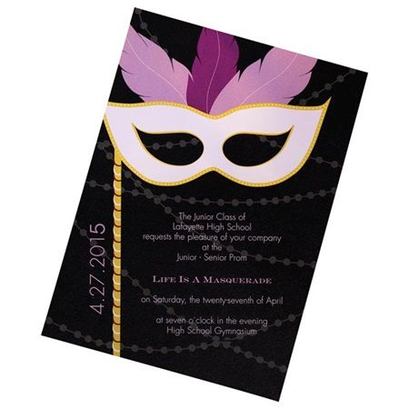 Mystery And Magic Invitation Prom Masquerade