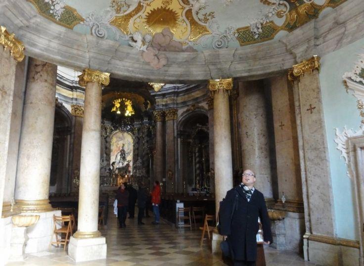 Inside Weltenburg Abbey Church