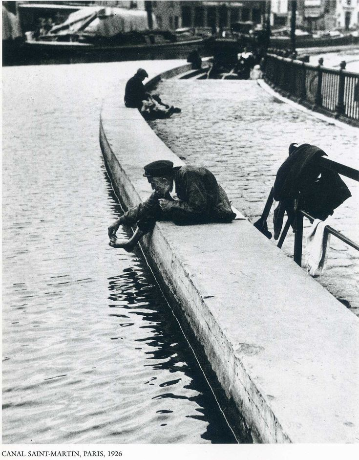 Canal Saint-Martin, Paris 1926 by André Kértesz