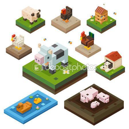 Животные на ферме — стоковая иллюстрация #85866554