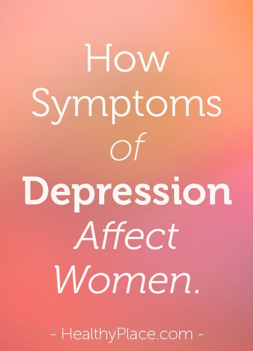 Risk factors and symptoms of depression in women are often related to specific female hormonal and life changes. Read about female depression symptoms.   www.HealthyPlace.com