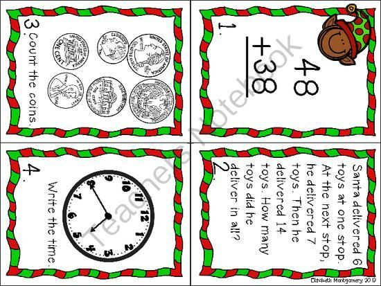 FREE Christmas Holiday Hop (A math scoot activity) from Loving Life in Second Grade on TeachersNotebook.com (6 pages) - Holiday Hop! I hope that you and your students enjoy this freebie where students practice a variety of Second Grade math skills on this holiday hop around the room. This activity is designed to be used as a scoot activity where the cards are placed around