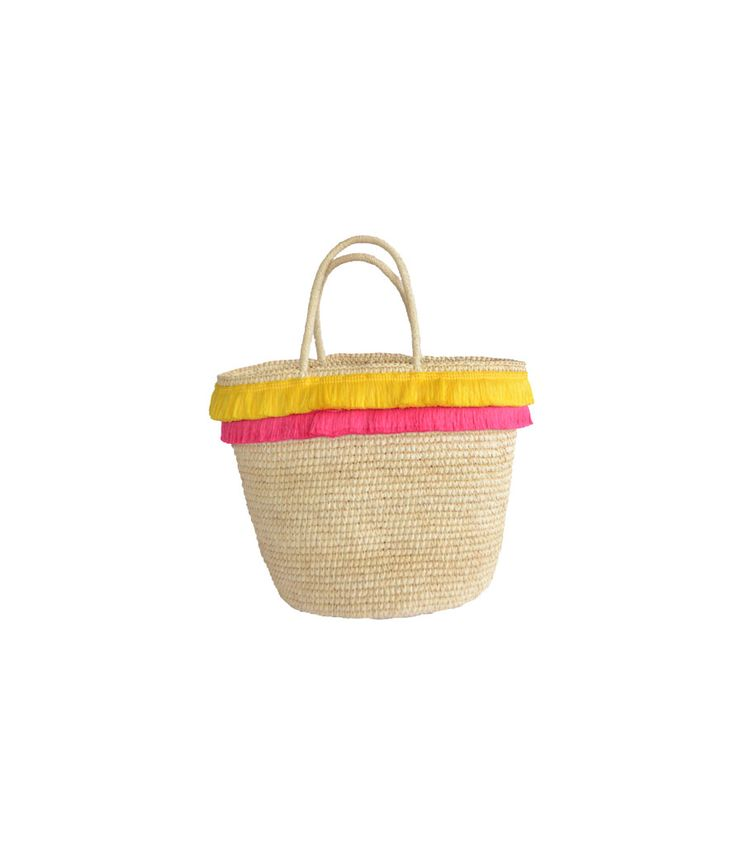 Folk Fringe Basket Tote by Prymal